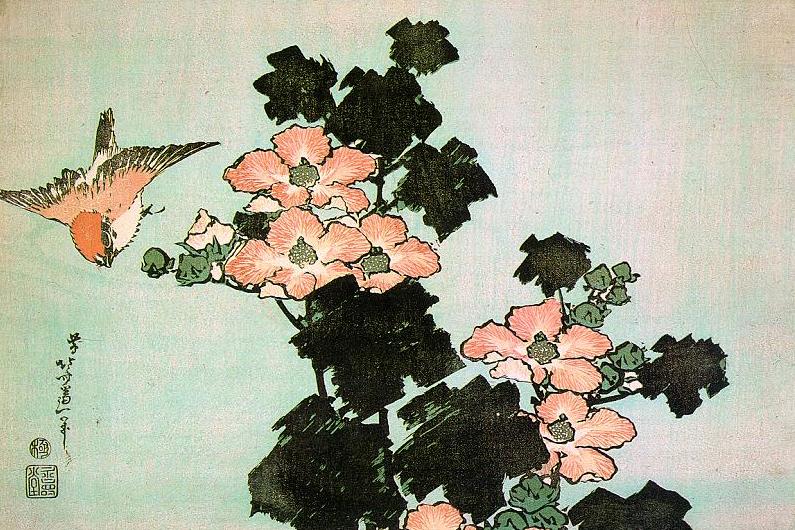Image à propos oiseau fleurs envol bien être hokusai Soin des sens