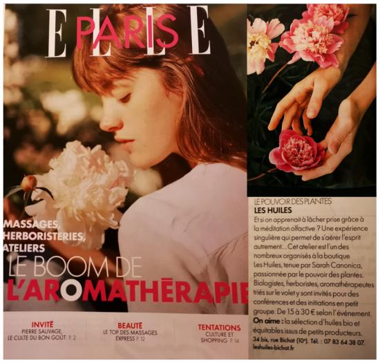 Article ELLE Soin des sens Aromathérapie méditation olfactive 28 02 2020