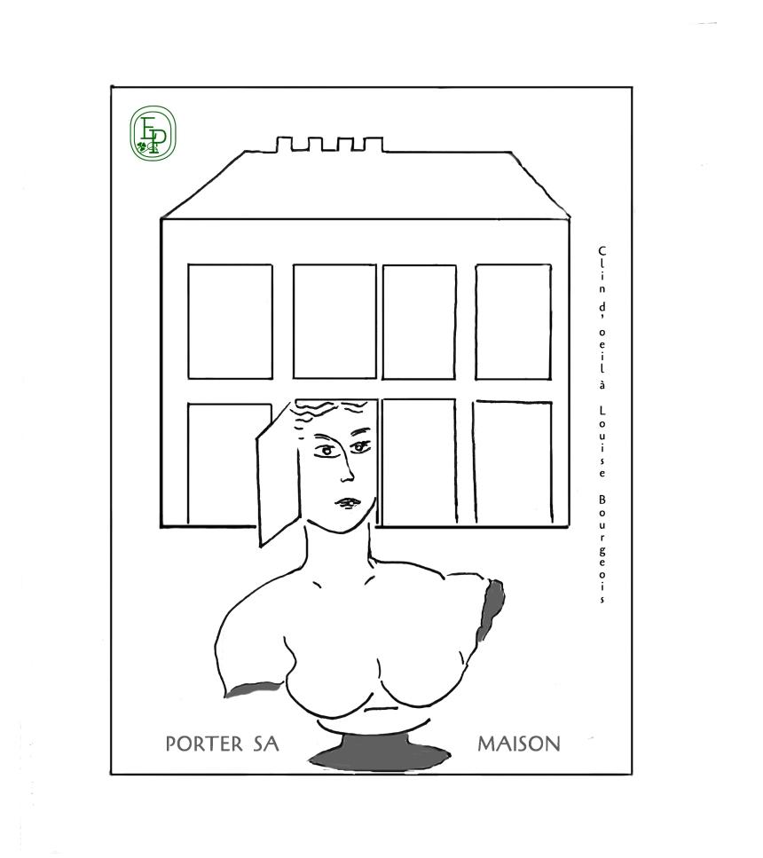2.Soin des sens Porter sa maison Dessin plume croquis contemplatif confinement
