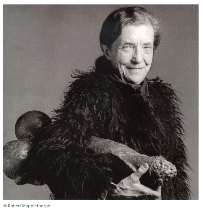 Louise Bourgeois et sa fillette par Robert Mapplethorpe - 1982