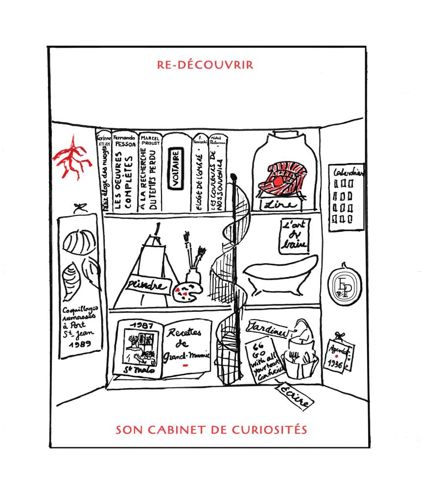 6. Soin des sens cabinet de curiosités Dessin plume croquis contemplatif confinement