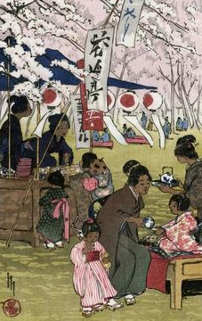 Blossom Time in Tokyo Helen Hyde Blossom 1914