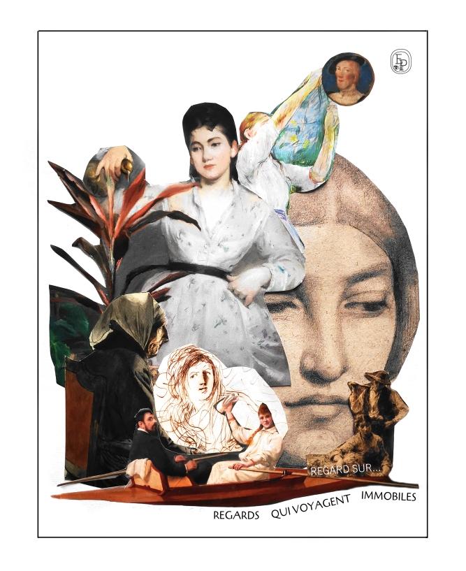 Collage EMILIE PRUVOST SOIN DES SENS REGARDS QUI VOYAGENT IMMOBILES