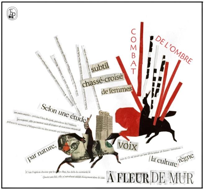 Collage EMILIE PRUVOST SOIN DES SENS rouge et noir