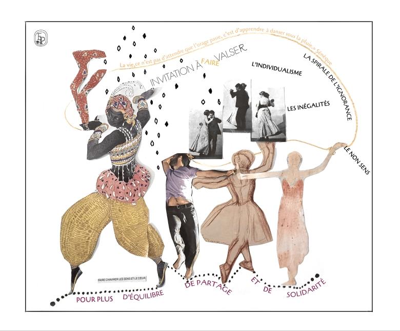 Collage n°6 Soin des sens Emilie Pruvost Apprendre à danser sous la pluie
