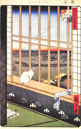 HIROSHIGE Ando, Les rizières d'Asukasa pendant le fête du coq (1797-1858), 1856-1859