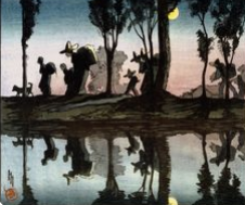 Moonlight Helen Hyde (1868-1919), On The Viga Canal, 1912