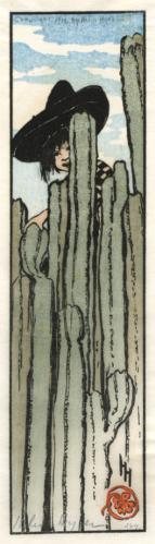 Over the Garden Wall by Helen Hyde 1912