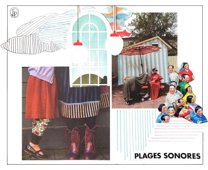 """Collage méditatif n°7 """"Plages sonores"""" © Émilie Pruvost"""