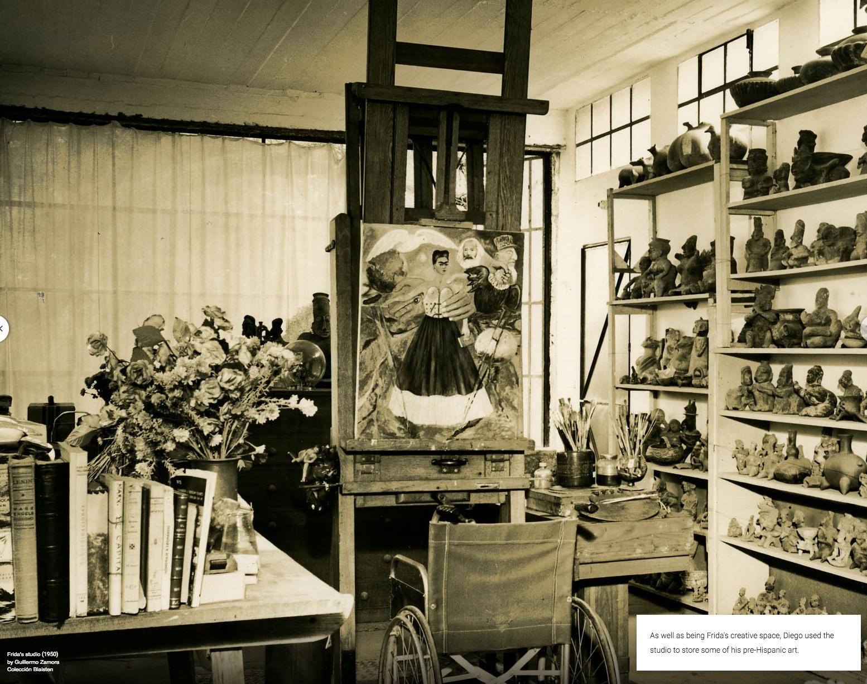 atelier Frida Kahlo 1950