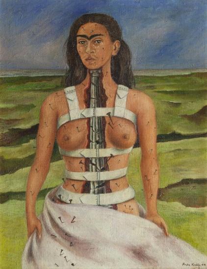 La colonne cassée par Frida Kahlo (Musée Dolores Olmedo)