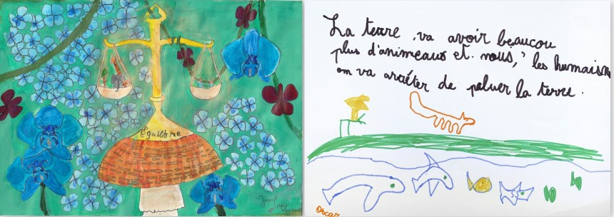 Galerie Kamel Mennour What world  do you see after this ? - Joan, 9 ans et Oscar, 5 ans