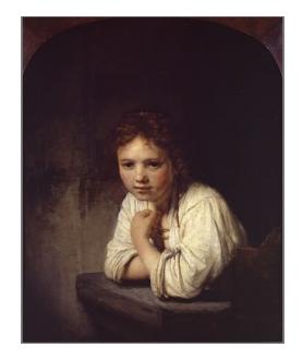Rembrandt l'enfant à la fenetre 1645