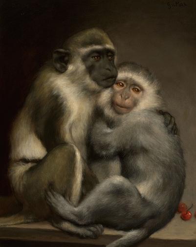 Abélard et Héloïse, Gabriel von Max (1840-1915) , après 1900, huile sur toile, os Altos Hills (CA), The Jack Daulton Collection © The Jack Daulton Collection